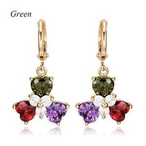 Hearts floral gold gf earrings